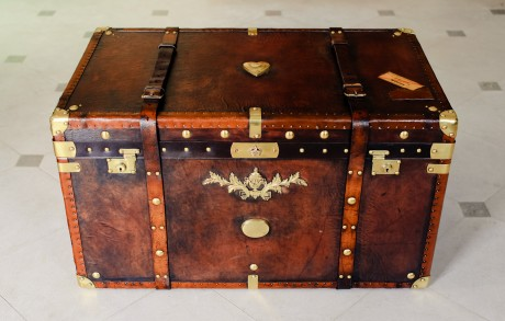 An Antique Leather Trunk